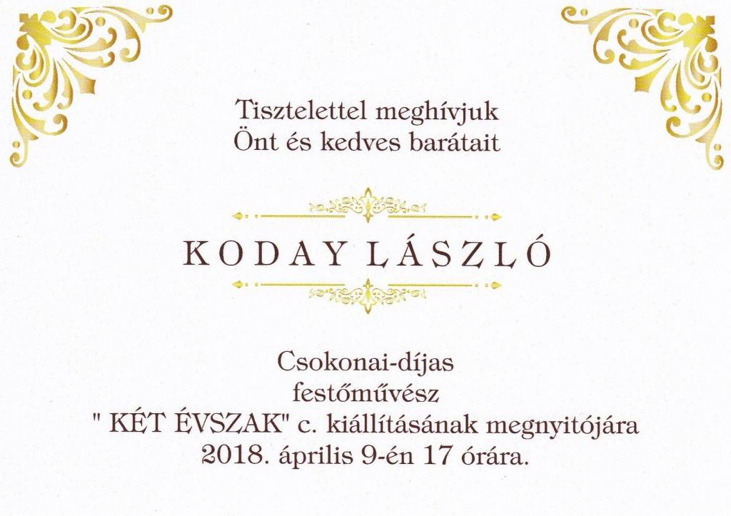 Koday László kiállítása