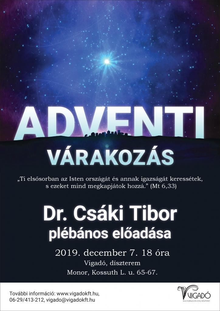 Dr. Csáki Tibor plébános előadása