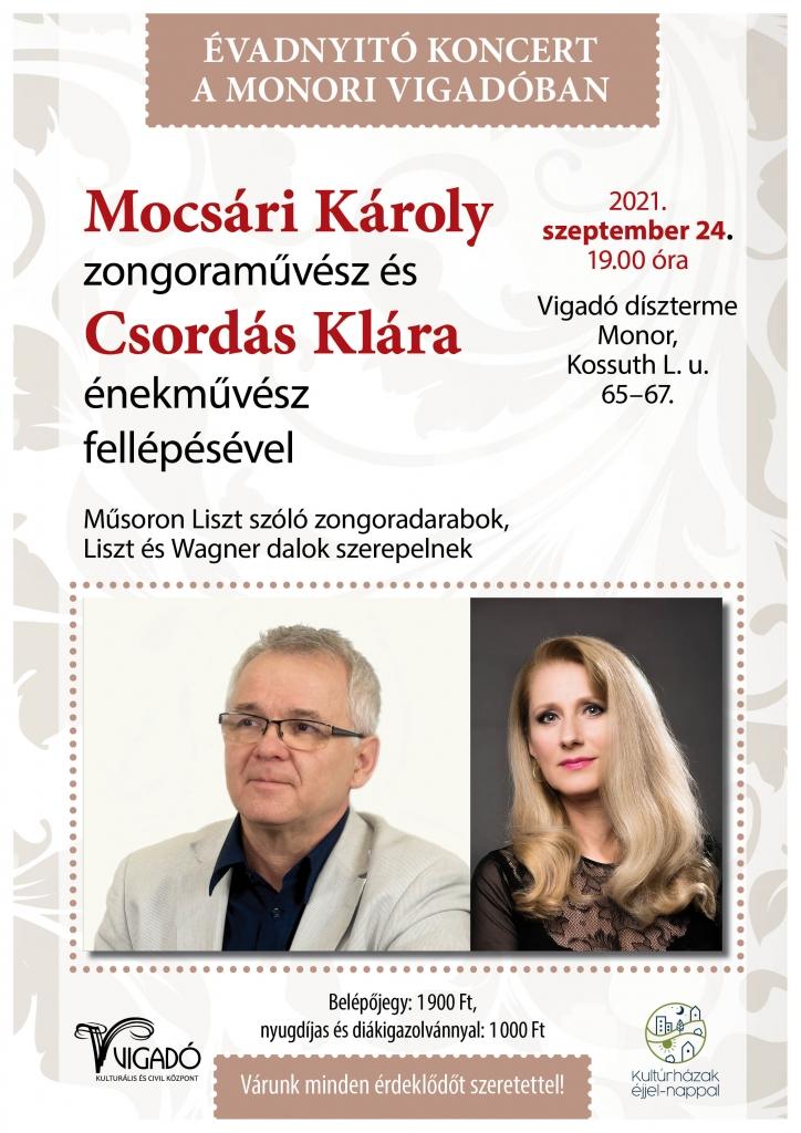 Évadnyitó koncert a monori Vigadóban